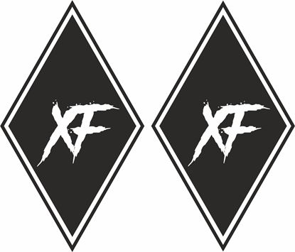 """Picture of DAF """"XF"""" Diamond front corner panel  Decals / Stickers"""