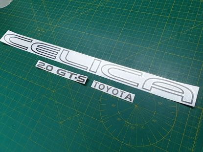 Picture of Toyota Celica 2.0 GT- S replacement rear hatch Decals / Stickers