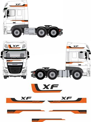 "Picture of DAF XF Euro 6  ""Super Space"" full Stripe / Graphics Livery / Stickers"