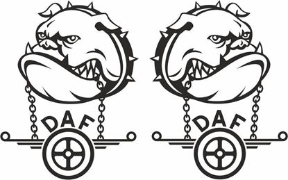 Picture of DAF Bulldog panel Decals / Stickers