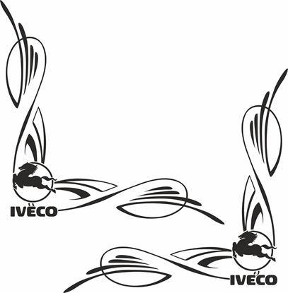 Picture of Iveco corner glass Decals / Stickers