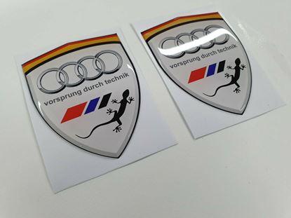 Picture of Audi Quattro Wing / Panel Badges 80mm