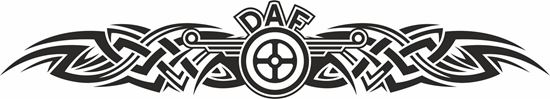 "Picture of ""DAF "" Windscreen / Panel  Decal / Sticker"