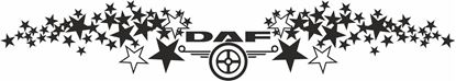 """Picture of """"DAF """" Windscreen / Panel  Decal / Sticker"""
