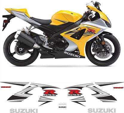 Picture of Suzuki GSX-R 1000 K7 2007 - 2008 replacement Decals / Stickers