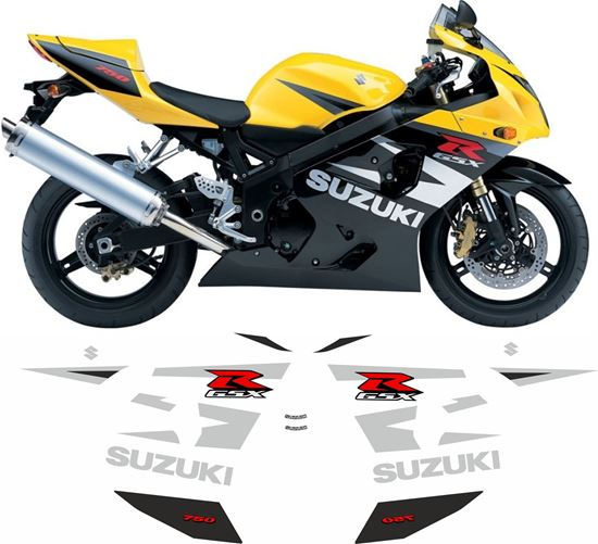 Picture of Suzuki GSX-R 750  K4 2004 - 2005 replacement Decals / Stickers