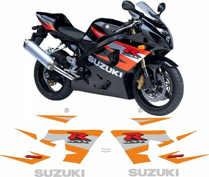 Picture of Suzuki GSX-R 600  K4  2004 - 2005 replacement Decals / Stickers
