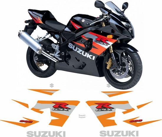 Picture of Suzuki GSX-R 600  K4  2004 - 2005 replacement Decals / Stickers