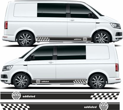 """Picture of VW T5 / T6 Adidas """"Addicted"""" Stripes / Stickers"""