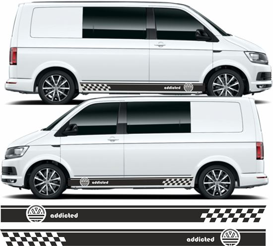 "Picture of VW T5 / T6 Adidas ""Addicted"" Stripes / Stickers"