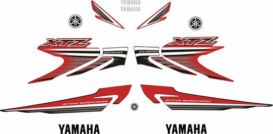 Picture of Yamaha XTZ 125 E 2007  Replacement Decals / Stickers