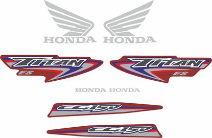 Picture of Honda CG150 ES Titan 2007 replacement Decals / Stickers