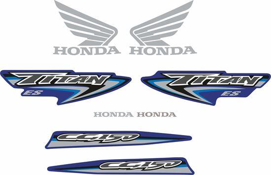 Picture of Honda CG150 ES Titan 2007 replacement Decals / Stickers