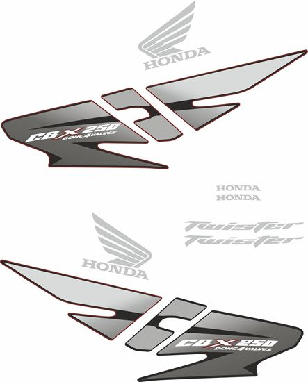 Picture of Honda CBX250  2007 replacement Decals / Stickers