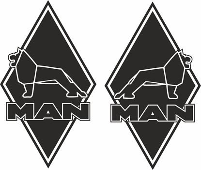 Picture of MAN Diamond panel corner Decals / Stickers