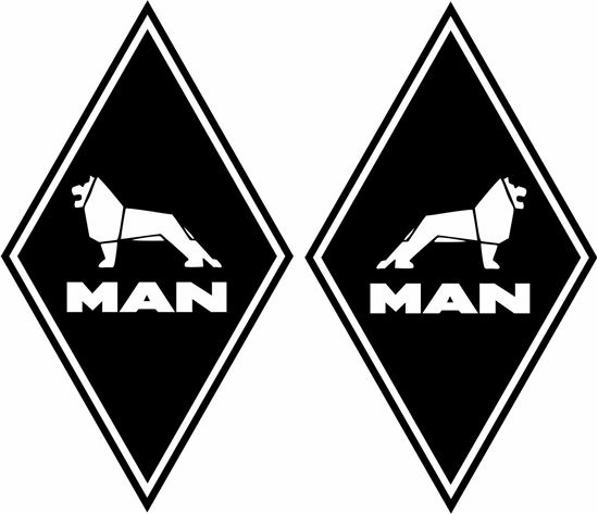 Picture of MAN Diamond panel corner Decals / Stickers