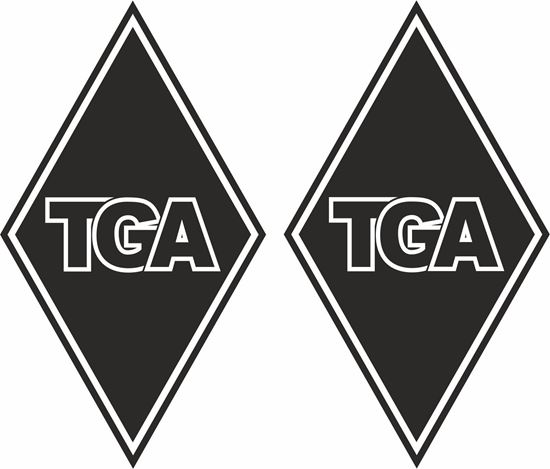 "Picture of MAN ""TGA"" Diamond panel corner Decals / Stickers"