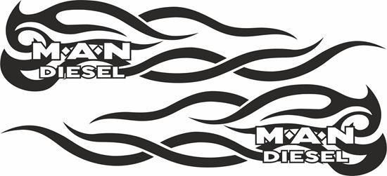 Picture of MAN Diesel Panel  Decals / Stickers