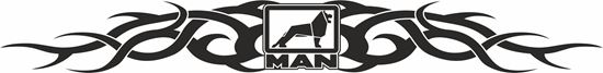 Picture of MAN windscreen / Panel  Decal / Sticker -