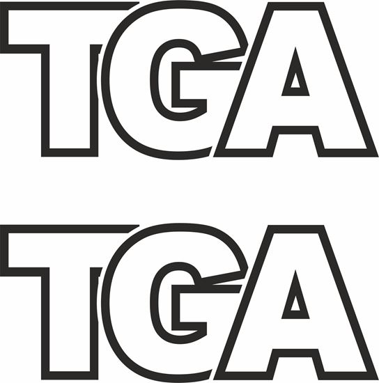 """Picture of MAN """"TGA"""" Glass / Panel  Decals / Stickers"""