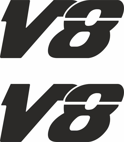 "Picture of MAN ""V8"" Glass / Panel  Decals / Stickers"