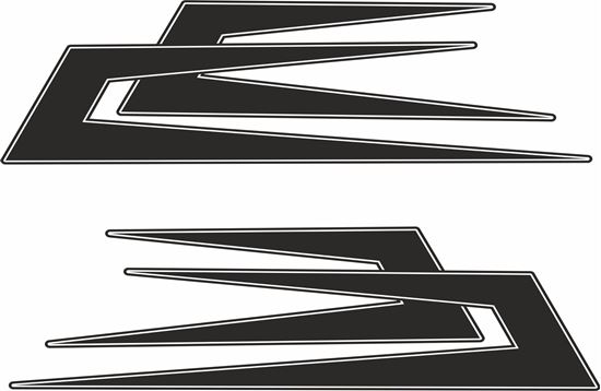 Picture of Top side Swedish Boomerang  Decals / Stickers