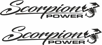 """Picture of Fiat  """"Scorpion Power"""" Decals / Stickers"""
