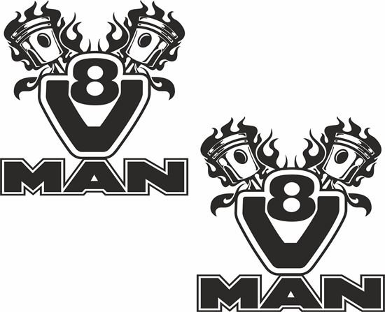 Picture of MAN V8 Panel  Decals / Stickers