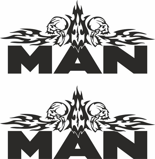Picture of MAN  Panel Decals / Stickers - copy