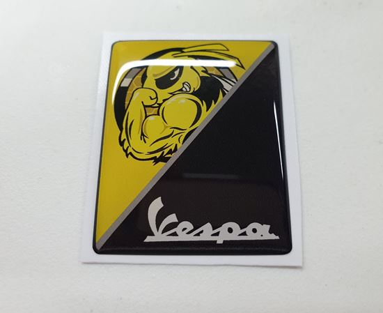 Picture of Vespa Muscle Bee front Fairing Horncast insert for Badge Holder