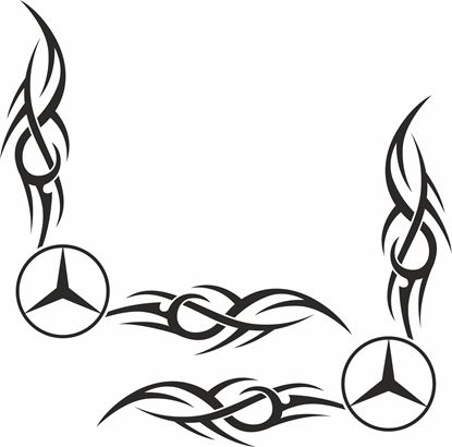Picture of Mercedes corner glass Decals / Stickers