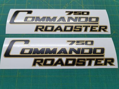 "Picture of Norton ""Commando 750 Roadster"" replacement  Decals / Stickers"