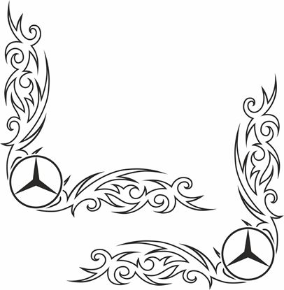 Picture of Mercedes Actros corner glass Decals / Stickers