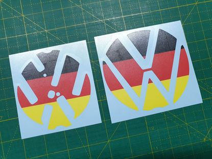 Picture of Golf MK 7 front and rear Badge underlay  Decals / Stickers