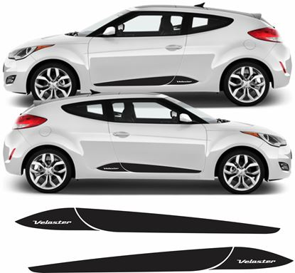 Picture of Hyundai Veloster Side Stripes / Stickers