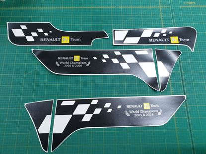 Picture of Renault Clio R27  R.S. F1 Team replacement Decals / Stickers