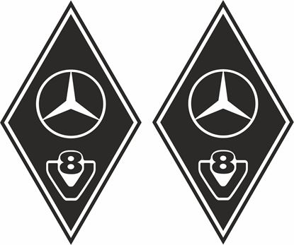 Picture of Mercedes  V8  front corner / General Panel  Decals / Stickers