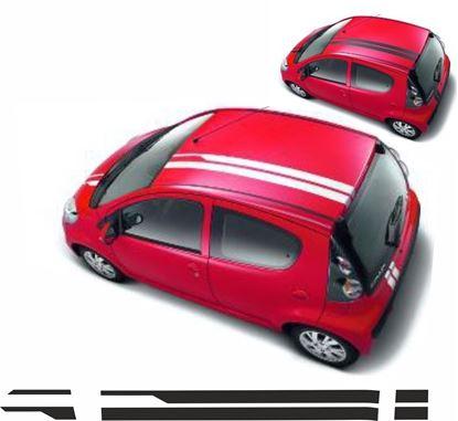 Picture of Citroen C1 / Peugeot 107  OTT Stripes / Sticker FACTORY FIT