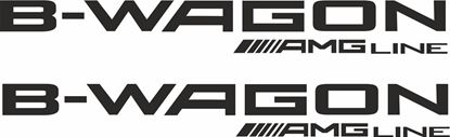 "Picture of Mercedes B Class ""B Wagon AMG Line"" Decals  / Stickers"