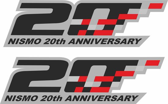 """Picture of Nissan  """"Nismo 20th Anniversary"""" Decals / Stickers"""