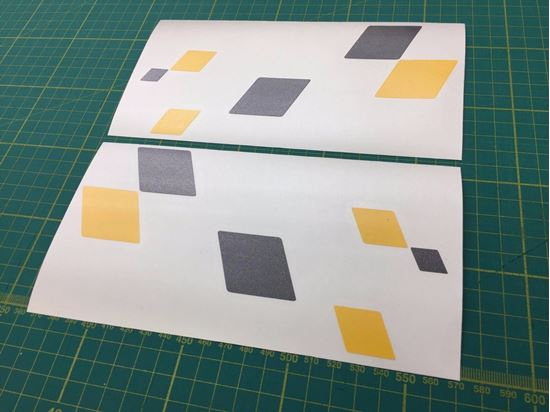 """Picture of Renault Track Decals / Stickers 3"""" x 2"""""""