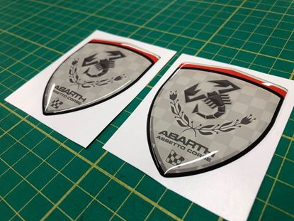 Picture of Fiat Abarth Assetto Corse wing Badges 70mm
