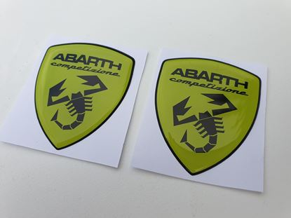 Picture of Fiat Abarth Competizione wing Badges 60mm