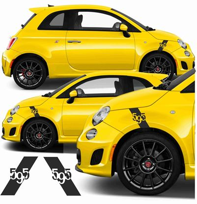 Picture of Fiat 595 Abarth  Wing Stripe / Stickers