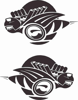 Picture of Dodge Hornet  General panel / Glass Decals  / Stickers