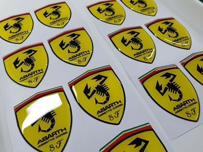 Picture of Fiat Abarth Assetto Corse wing Badges 60mm  *SECONDS*