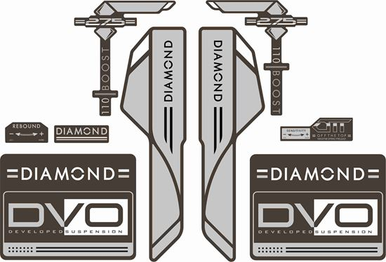Picture of DVO  Diamond Boost 275 2016 Frame Sticker kit