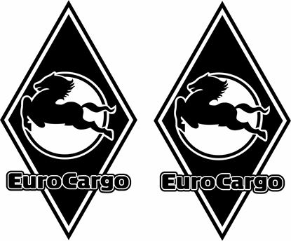 Picture of Iveco Euro Cargo front corner Panel Decals / Stickers
