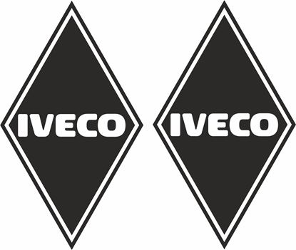 Picture of Iveco  front corner Panel Decals / Stickers