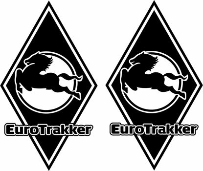 Picture of Iveco Euro Trakker front corner Panel Decals / Stickers